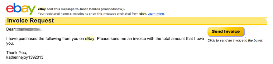 E-invoicing Solutions Pdf Ebay Is Broken And Someone Needs To Fix It  Jasons Blog Paypal Invoice Id with Petty Cash Receipt Template Word The Buyer Was Then Asking For An Invoice Which I Thought Was Weird But  The Email From Ebay Had A Big Button Entitled Send Invoice So I Though  Maybe That  Whats An Invoice Excel